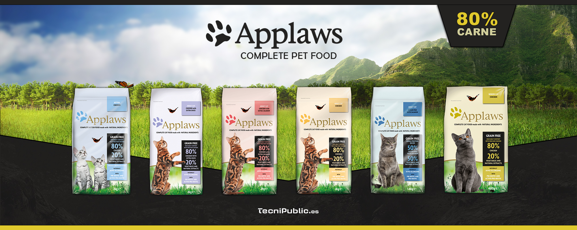 Applaws alimento con 80% de carne para gatos