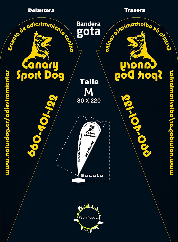 Bandera para Canary SportDog
