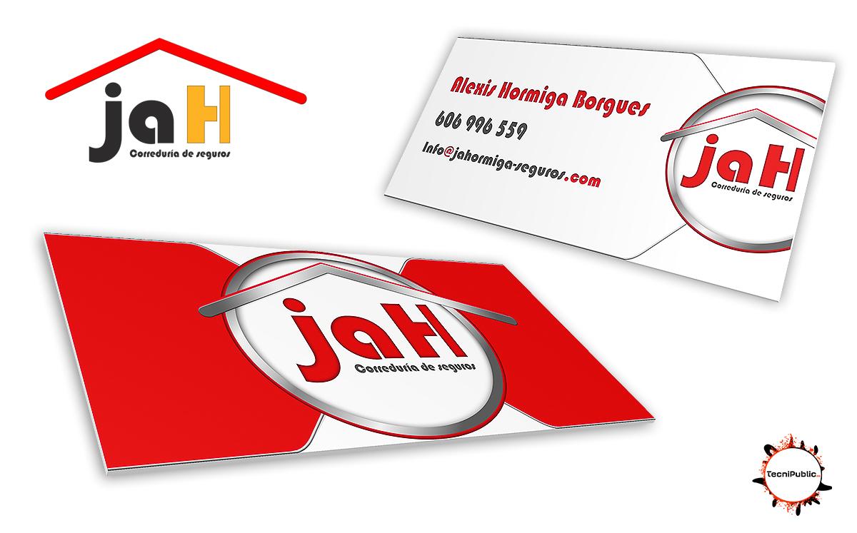 Tarjetas de visita, JaH Correduría de seguros