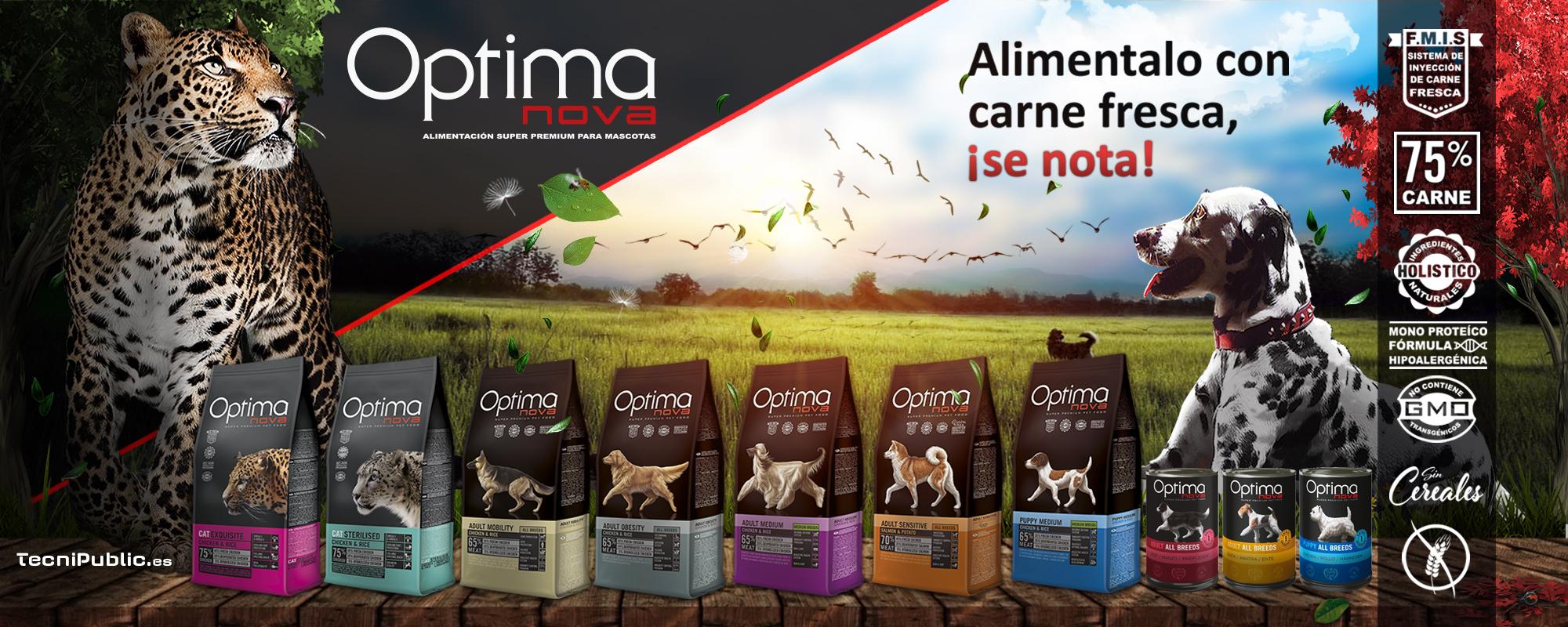 Visán - Optimanova alimento seco y húmedo para perros y gatos