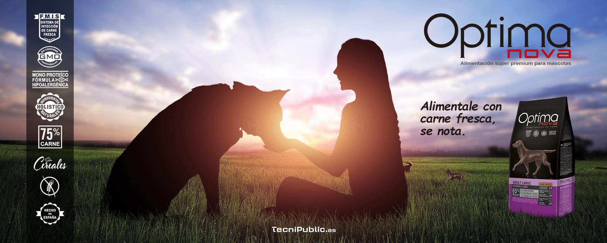 Visán - Optimanova alimento con carne fresca para perros y gatos