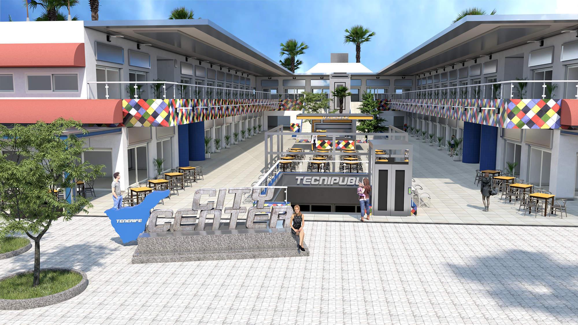 Render -4- City Center - 2019, Tenerife