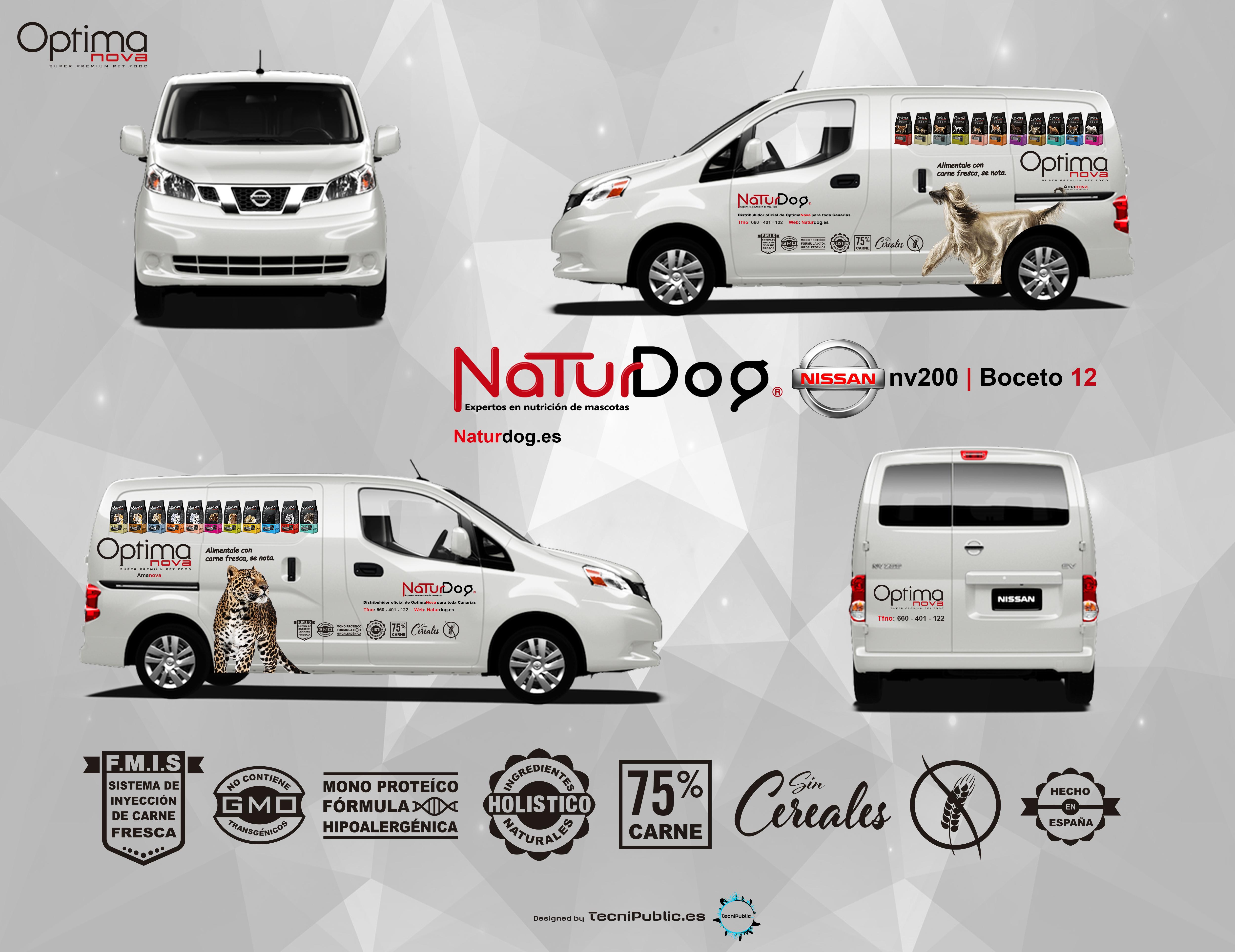 Serigrafía para NaturDog - Nissan nv200