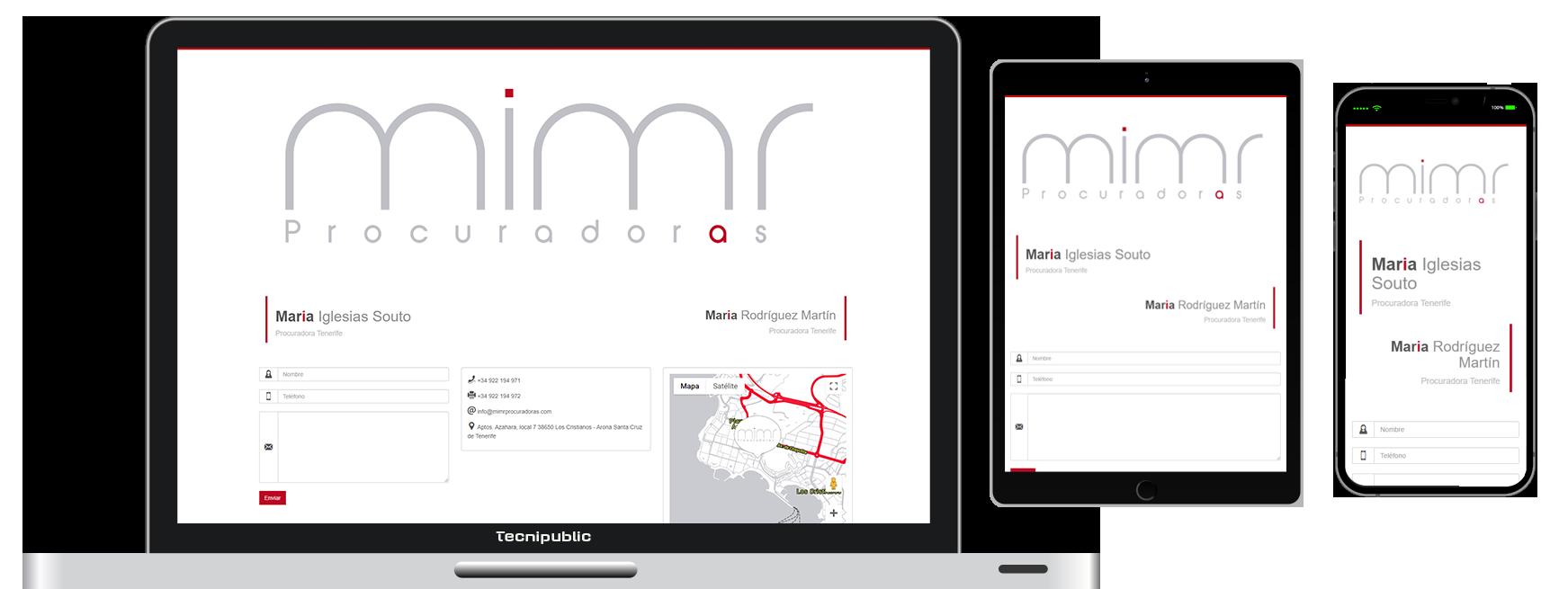 Web diseño fluido para Tenerife Vacances - 2020