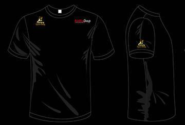 Camisas con los logos de Canary SportDog, NaturDog y Optimanova
