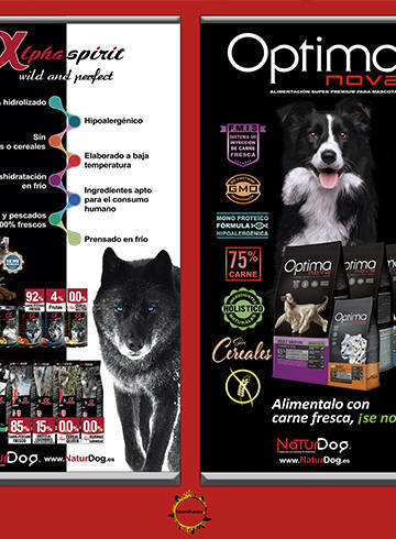 Carteles para NaturDog 2017 de Optimanova y Alphaspirit 100x211cm