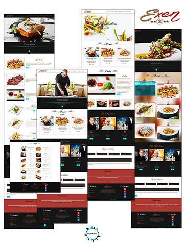 Exen - Plantilla web para restaurantes en cuatro estilos diferentes