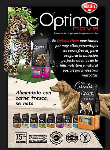 Flyers Optima Nova Canarias 2017. NaturDog distribuidor oficial