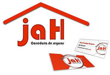 Diseño del logotipo y tarjetas de visita para la correduría de seguros JaH 2014