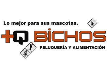 Logo para la nueva tienda +Q Bichos en Tenerife