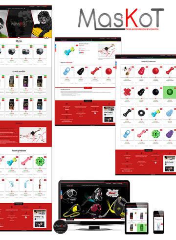 Maskot nueva tienda de alimentación y accesorios para mascotas