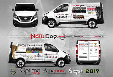 Serigrafía Nissan nv300, Naturdog 2017