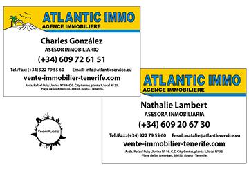 Tarjetas para Atlantic Immo - 2018