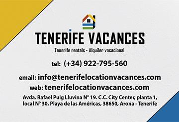 Tarjetas Tenerife Vacances - 2020