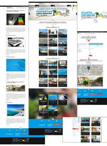 Web multidioma Atlantic Properties 2017, agencia Inmobiliaria en Tenerife