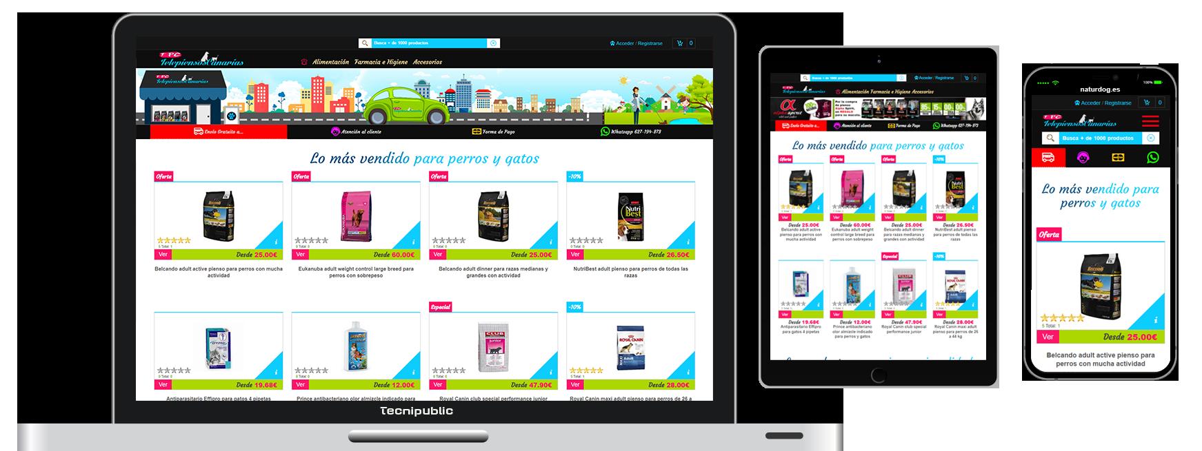 Web diseño fluido para TelepiensosCanarias - 2017