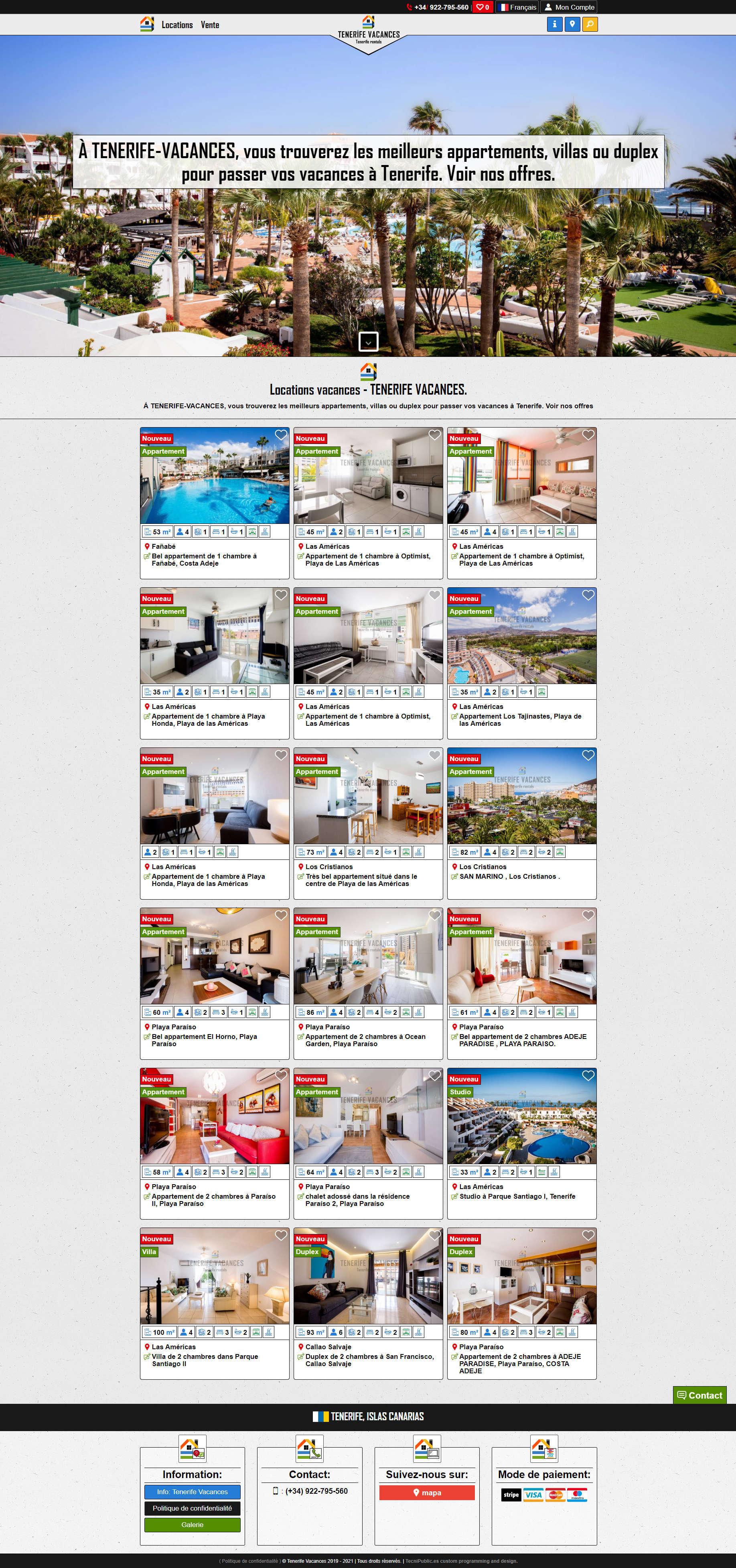 Tenerife Vacances - Categoría